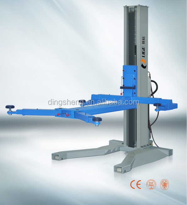 One Cylinder Hydraulic Lift Type and Single Post Design car lift