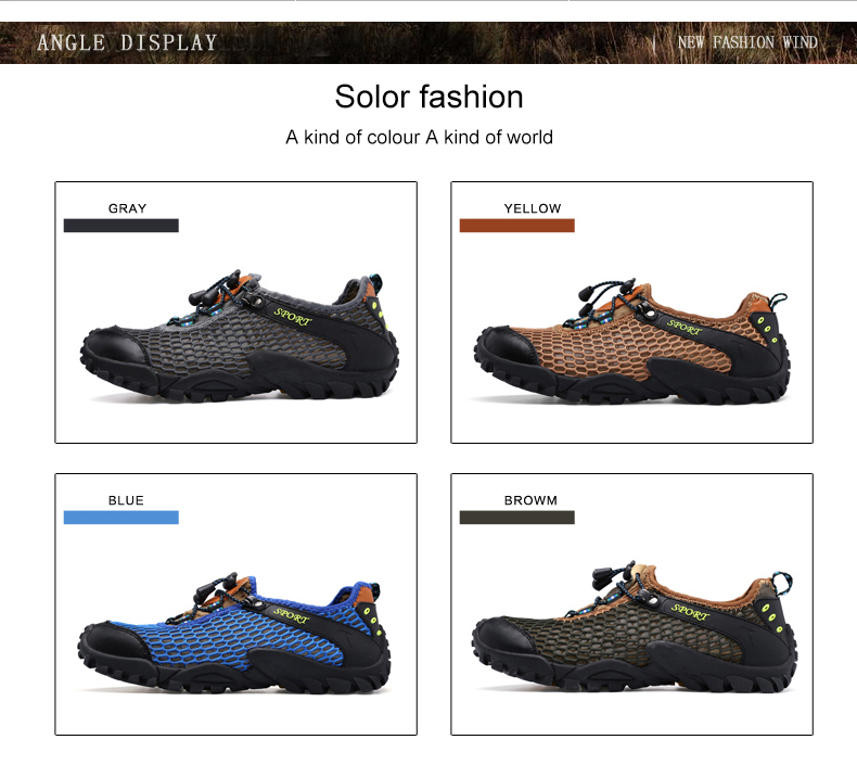 soft mesh casual breathable brown yards shoes outdoor bottom 44 SDIiLAN hiking travel men's zO0q6Hn
