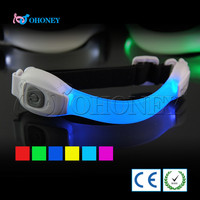 Sports pvc gift glow in the dark event supplies led armband energy for biking hiking