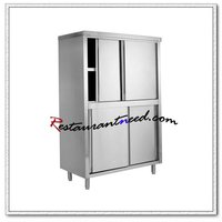 S047 Stainless Steel Storage Cabinet With Sliding Doors