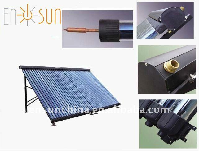 Manufacture pressurized evacuated vacuum tube solar collector