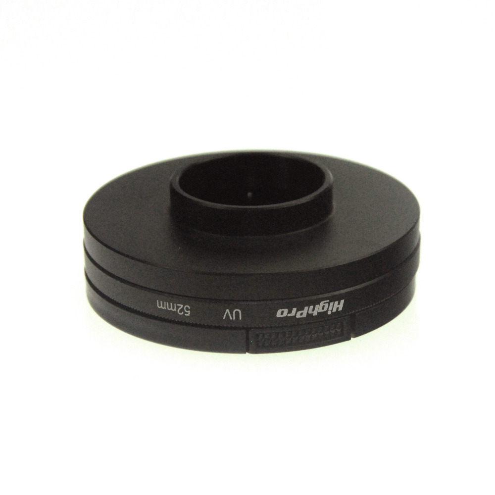 52 мм фильтр адаптер + уф-объектив + крышкой для Gopro Hero3 + / Hero3 с крышкой объектива и адаптер