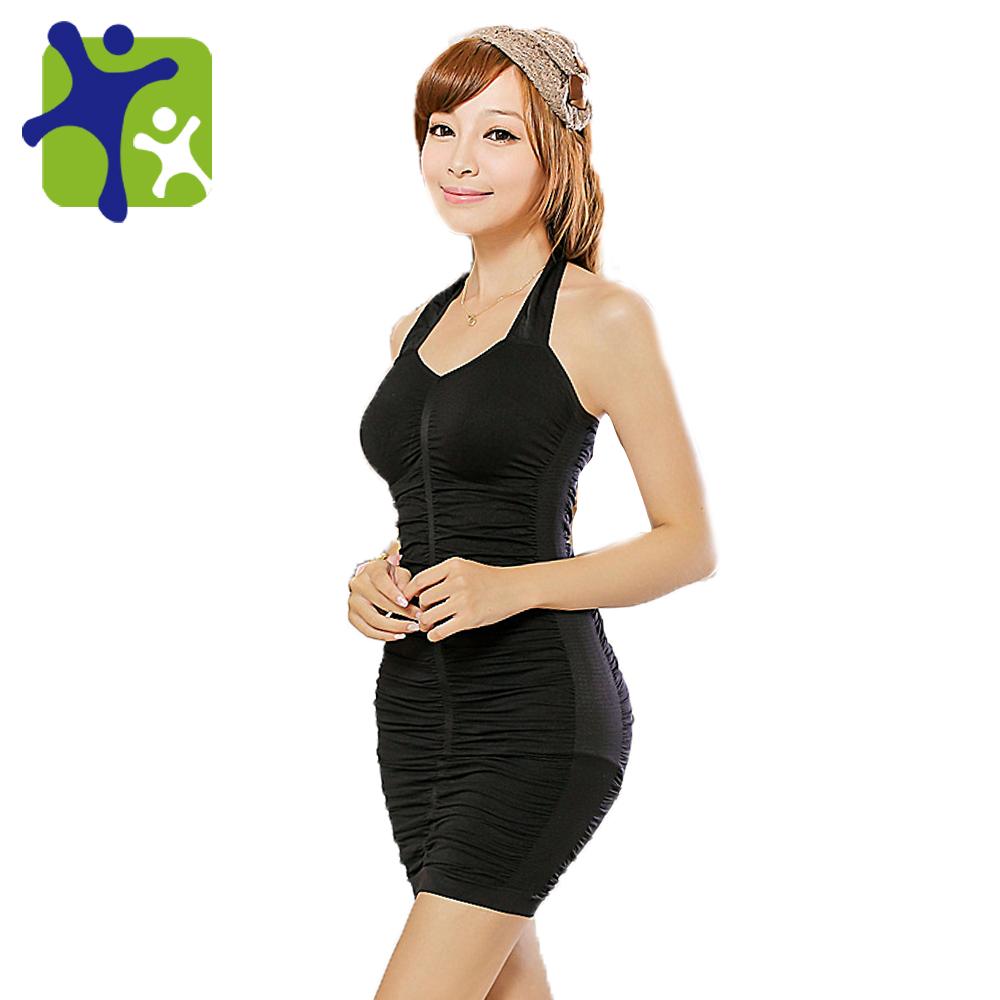 Mujeres ropa interior atractiva, femenina cuello colgando vestido ...