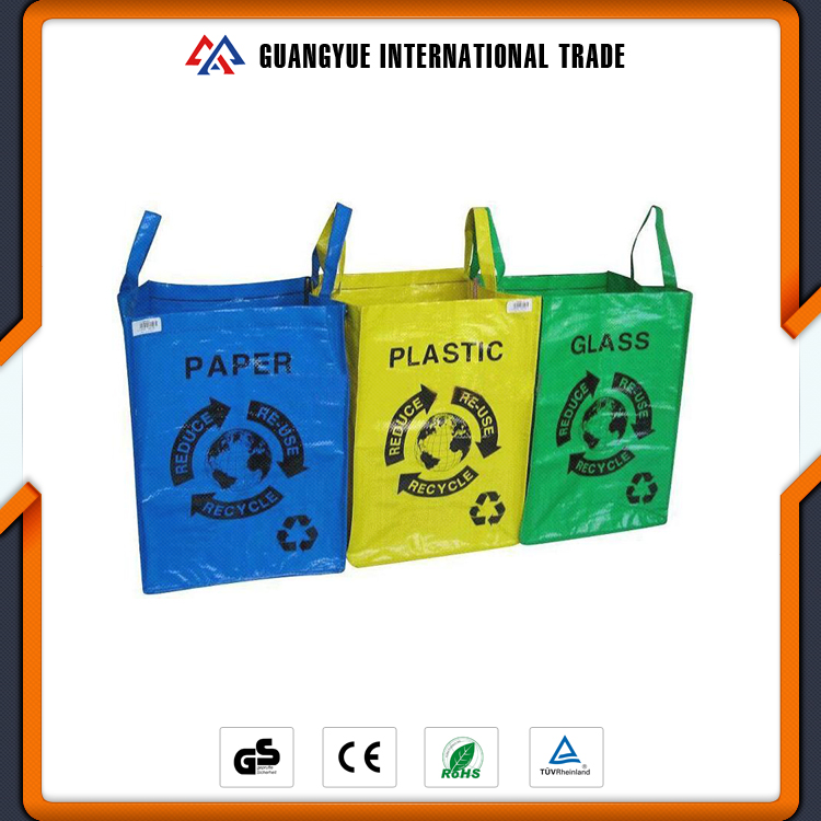 Guangyue Wholesale Products Colorful Garbage Classification Recycled PP Woven Laminated Bag