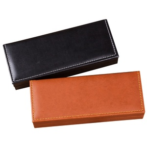 Promotional wholesale fountain leather logo printed luxury pen case