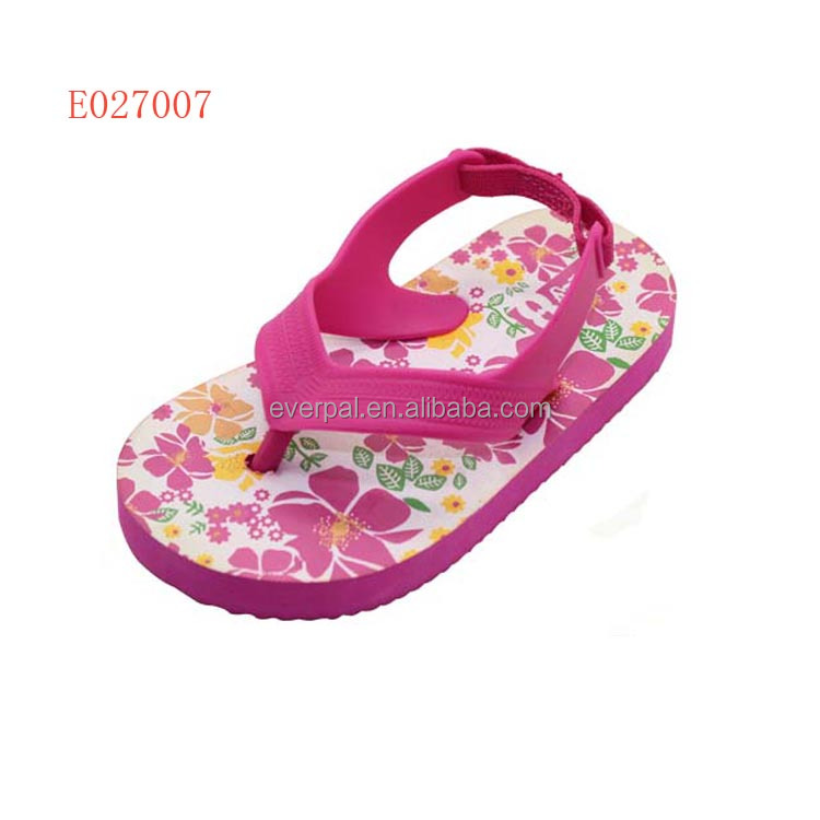 b3cb9b1eb Kid s Toddler Size Flip Flops Sandals With Elastic Back Strap New ...