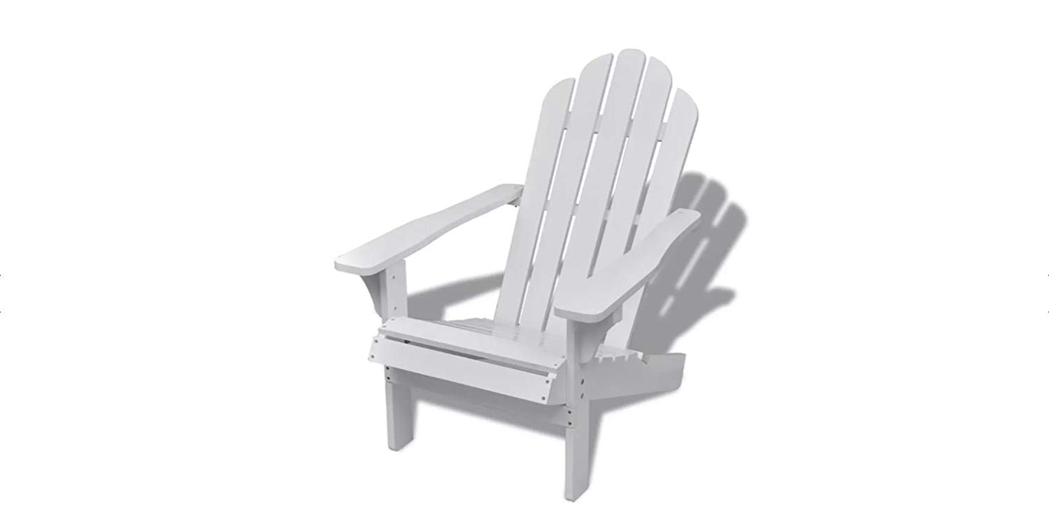 K&A Company Garden Chair Wood Chair Living Room White