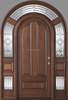 sale hot 100% Mahogany Entry Doors Insulated Beveled Glue-Chip Glass door