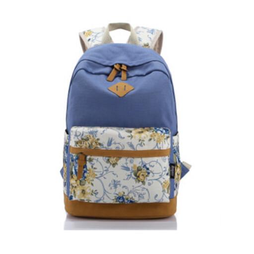 dce893ce29 Buy printing backpack women flower canvas laptop backpacks kids ...