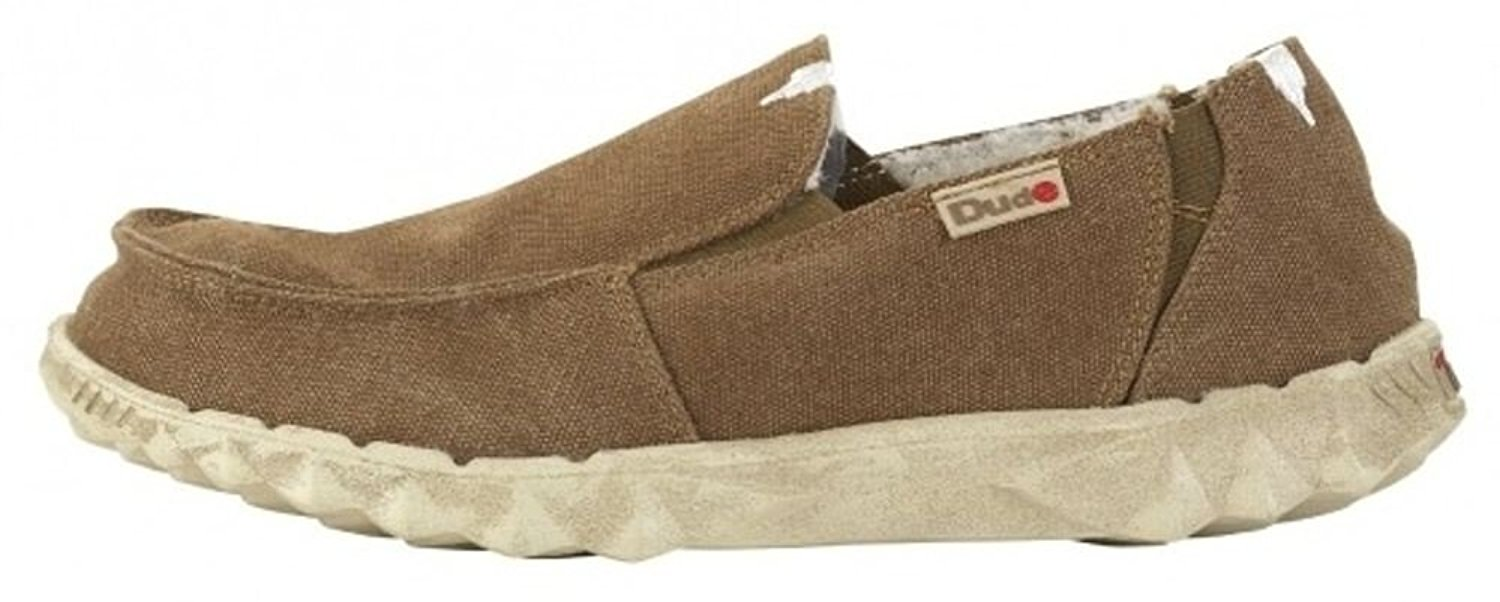 Get Quotations · Hey Dude Farty Chalet Coffee Canvas Mens Slipons Shoes b96ae47e7c0