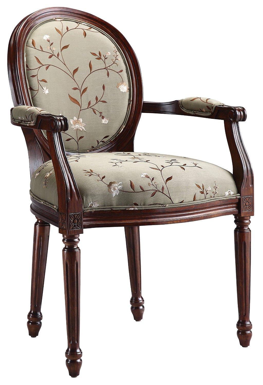 Get Quotations · Stein World Furniture Antoinette Accent Chair, Walnut,  Light Green