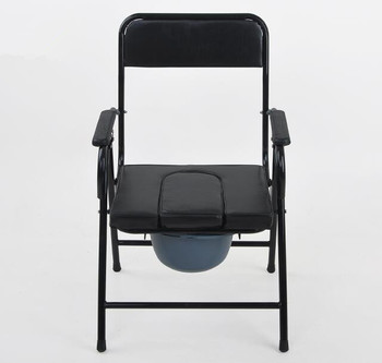 The excellent hospital toilet commode chair with bedpan or plastic