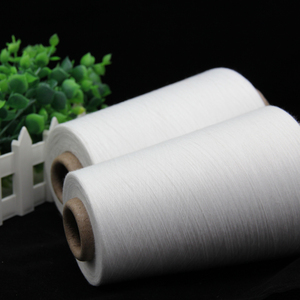 Factory price eco-friendly white virgin 100% polyester spun yarn 30/1 40/1 for knitting
