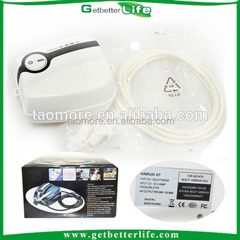 Getbetterlife High Quality Portable Mini Airbrush Compressor White and Black 21PSI Temporary Airbrush for Cake