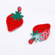2018 Spring Summer New Bright Fruit Cute Acrylic Plastic Red Strawberry Stud Earrings