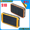 Double USB output portable 10000mah solar power bank solar battery charger