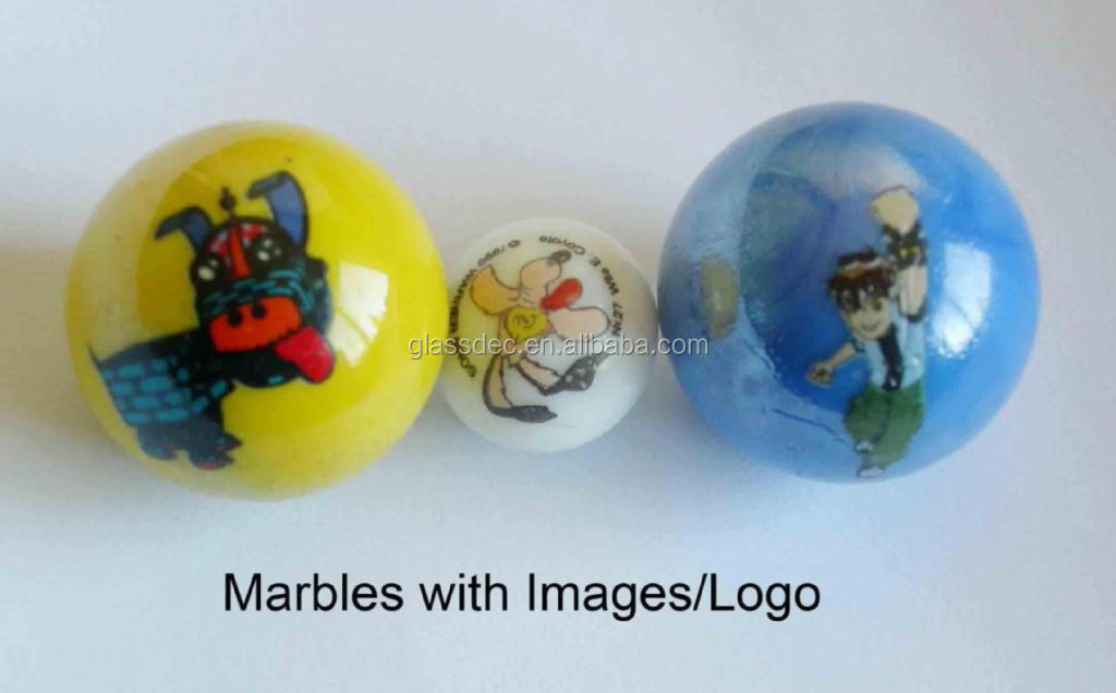 25mm custom glass marble with logo