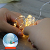 Halloween new decoration idea, LED copper wire yellow firefly light string