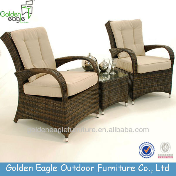 Poly Rattan Aluminum Waterproof Outdoor Furniture Bali Style