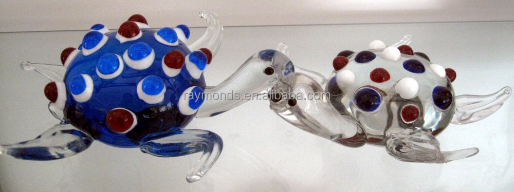 Murano crafts, glass tortoise for home decoration