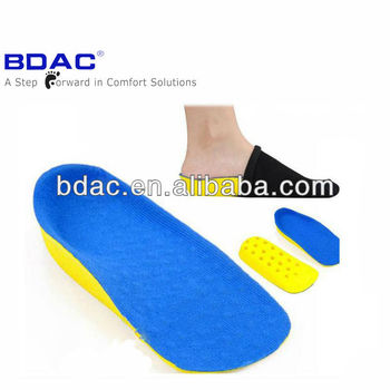 PU foam shockproof invisible heel lift insole as height increasing insole