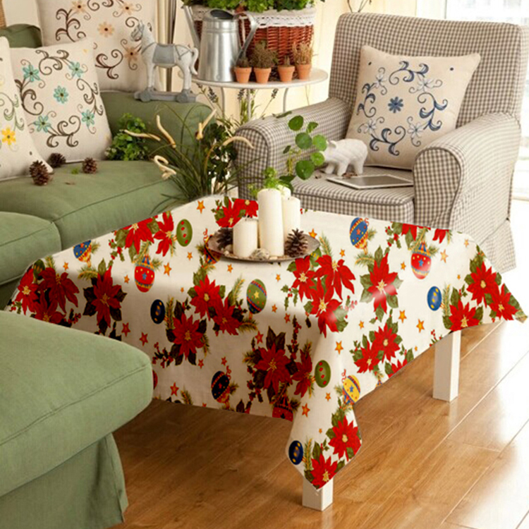 Vinyl Opaque square christmas Tablecloth with Christmas Style