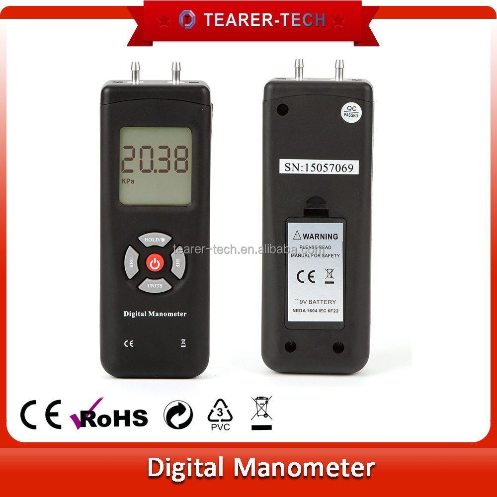 digital manometer. manometer digital, digital diferensial tekanan udara meteran pengukur tl-101