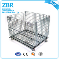 Reliable quality iron pallet heavy duty stackable wire mesh cage