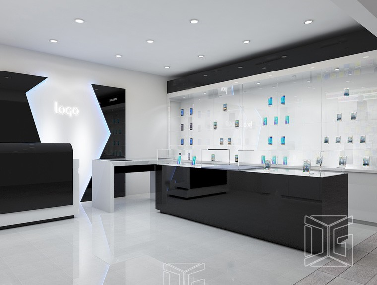 Luxury Showcase Furniture For Mobile Phone Shop Design