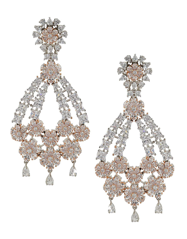 06bdfeeff Get Quotations · Anuradha Art Two-Tone Wonderful Studded American Diamonds  Stone Wonderful Traditioanl Long Earrings For Women