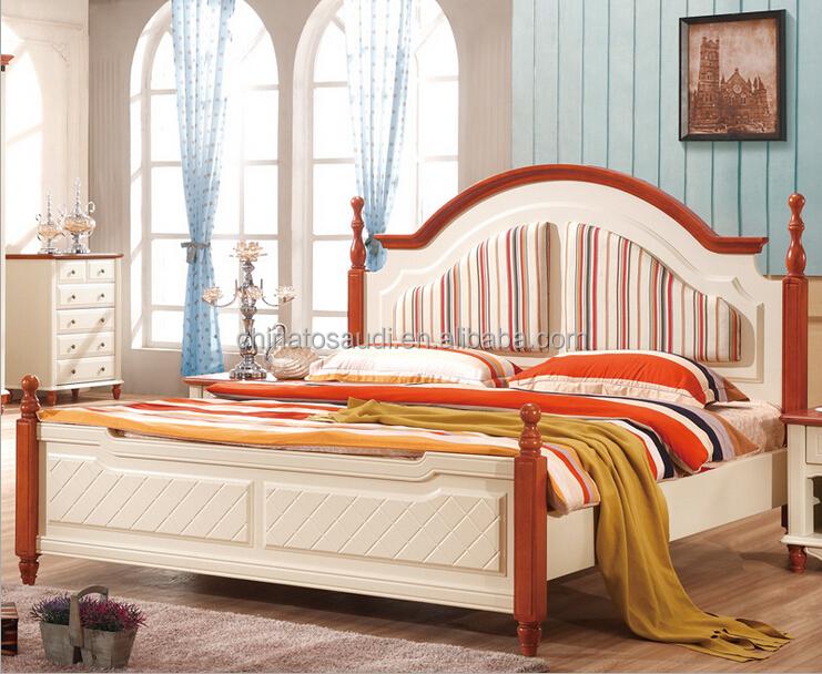 Di lusso in legno massello letto in pelle letto matrimoniale con ...
