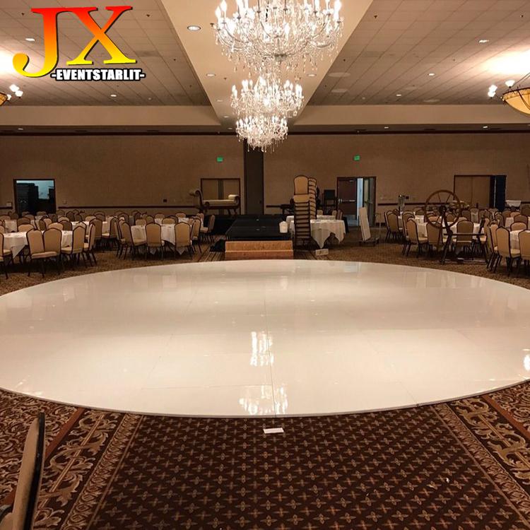 Wholesale Portable High Gloss White Dance Floor Seamless Wedding Wooden Dance Floor for Sale