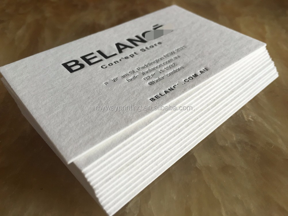professional namecard printing with cotton paper