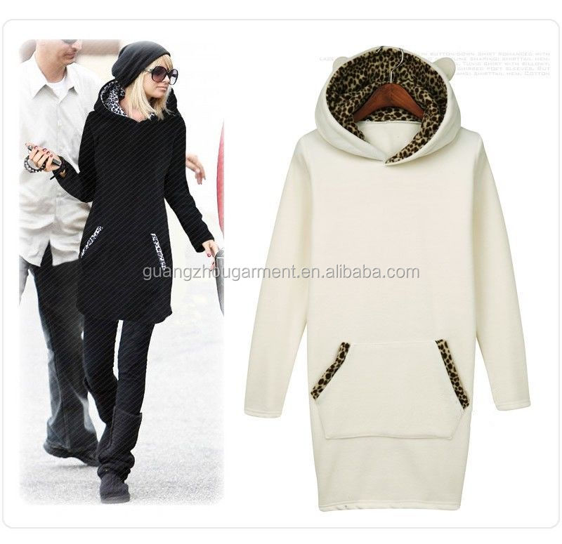 NEW Casual Fashion Women Size M-2XL Hoody Sweater Long Sport Winter Hoodie Jumper Pullovers Dress