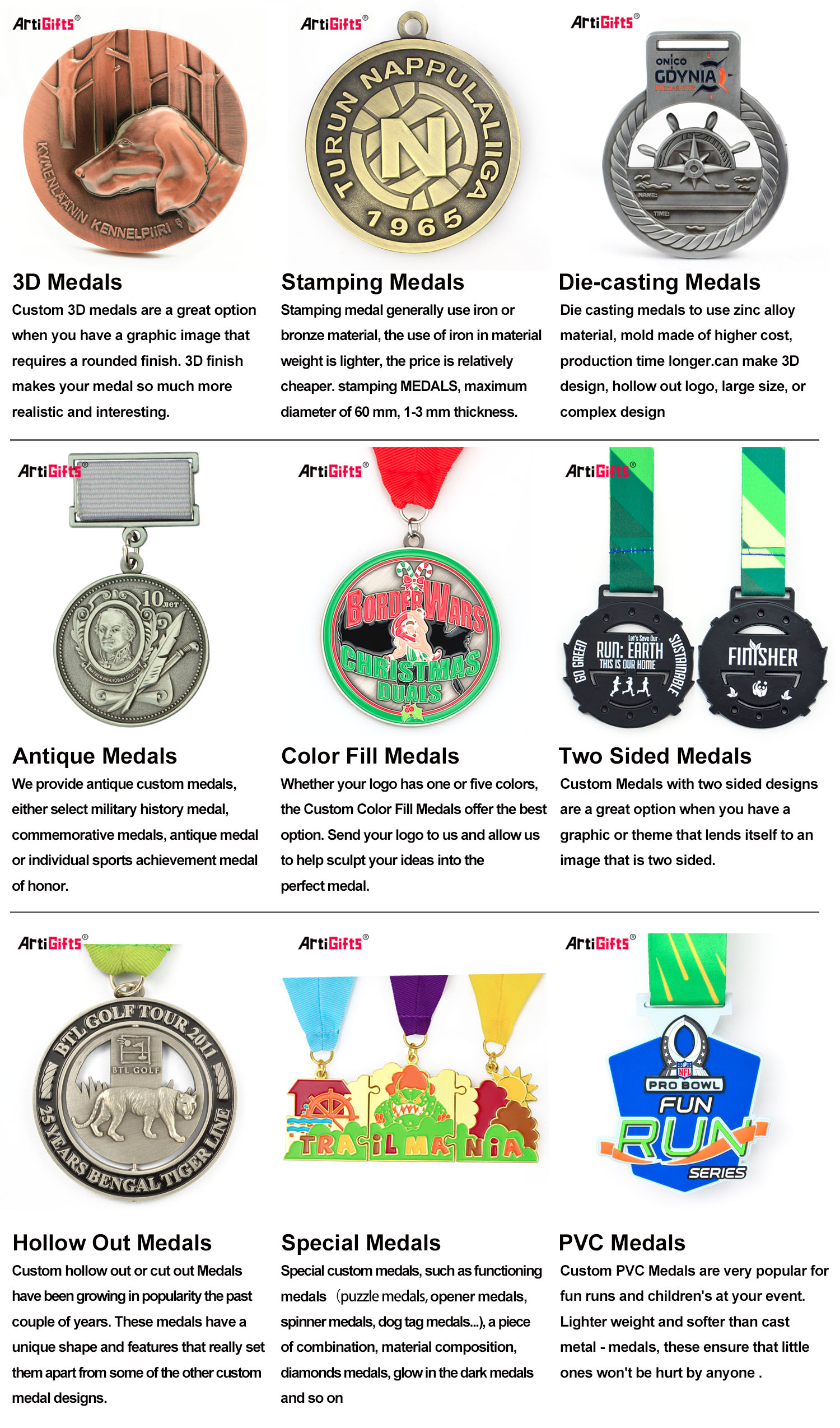 China manufacturers personalized nice design medal zinc alloy custom medal