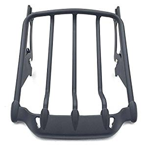 SMT- Motorcycle Black Two-Up Air Wing Luggage Rack Mounting For Harley Davidson Touring 2009-2016 Street Glide FLHX Road King FLHR Electra Glide FLHT Road Glide FLTR