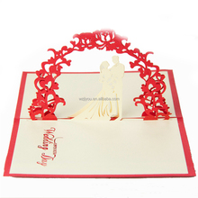 Red 3D Greeting Card Folder For Wedding Display