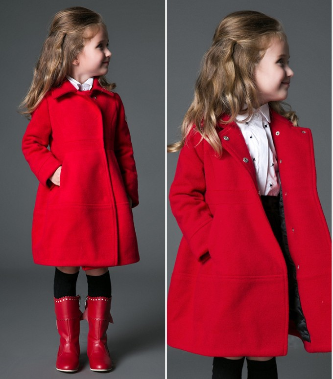 new photos top-rated discount big clearance sale Girls Wool Dress Coat - Sm Coats