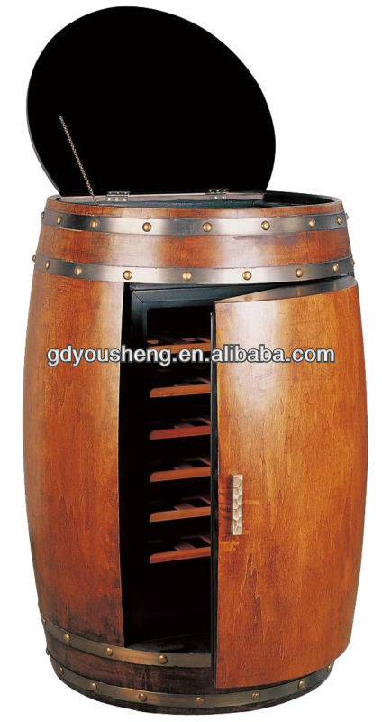 semiconductor wooden 28 bottles Oak barrels wine cooler with 70L Capacity
