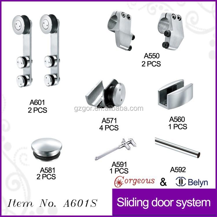 Frameless sliding glass shower door hardware good for Bathroom door parts