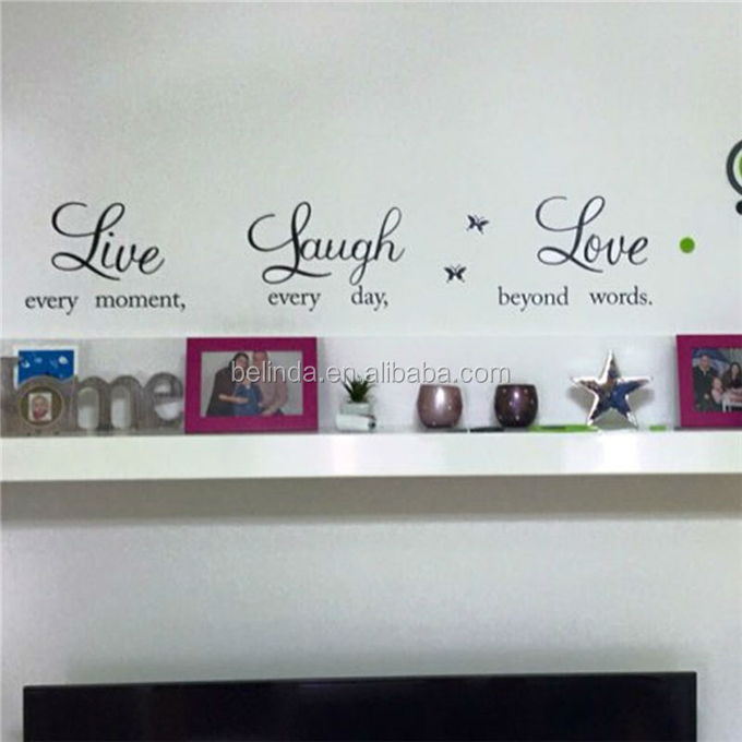Live laugh love quotes muurstickers
