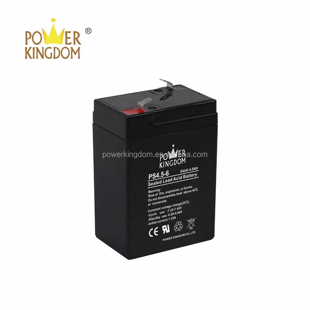 6 Volt 4.5 Ah Sealed Lead Acid Rechargeable Battery F1 Terminal SLA-6V4-5