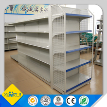 lighted supermarket gondola shelving