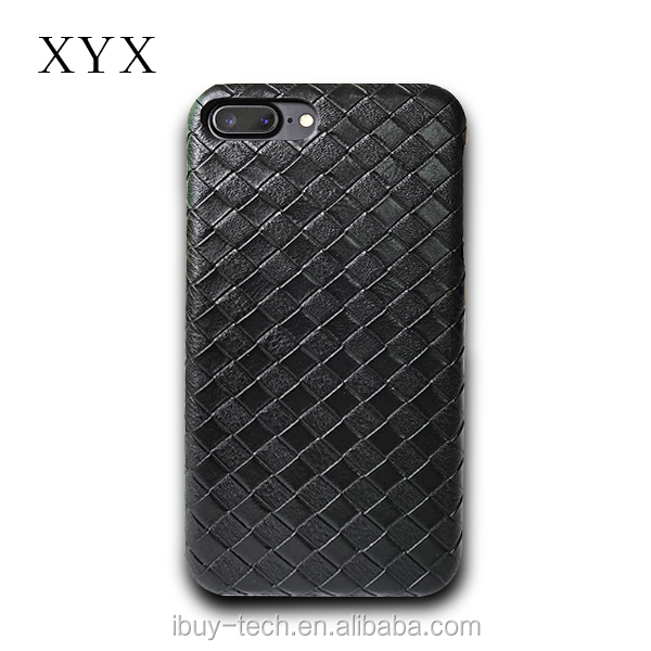 for iphone 7 leather case, woven PU leather material from XYX A unique design
