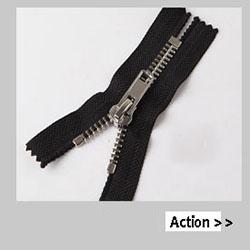 #1, #2 svizzero Denti Zip In Metallo Lucido Cerniera Estremità Chiusa Per Abbigliamento