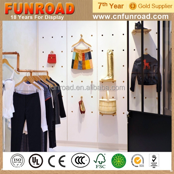 Customized Upscale Clothing Decoration Display Showcase