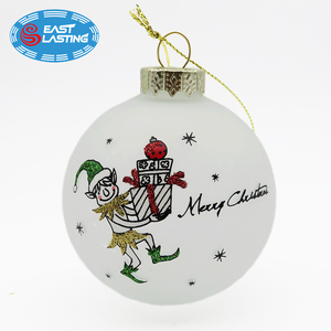 Pack Christmas tree decoration frosted glass ornament ball wholesale