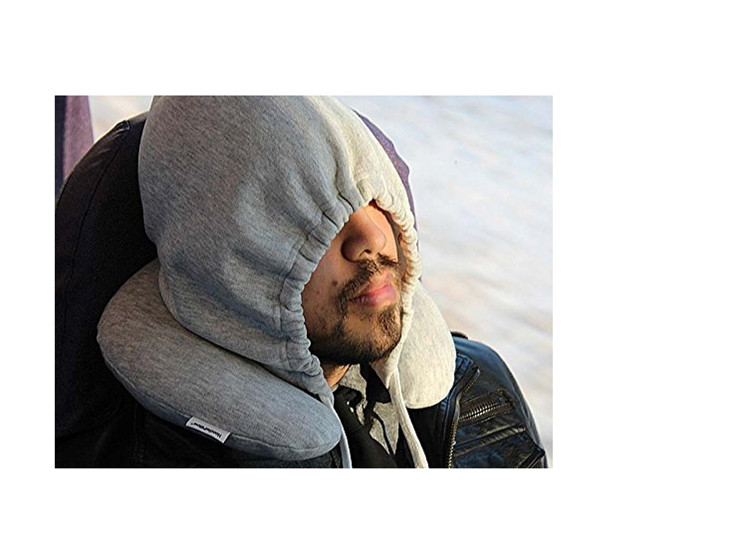 memory foam hoodie travel pillow for outsports