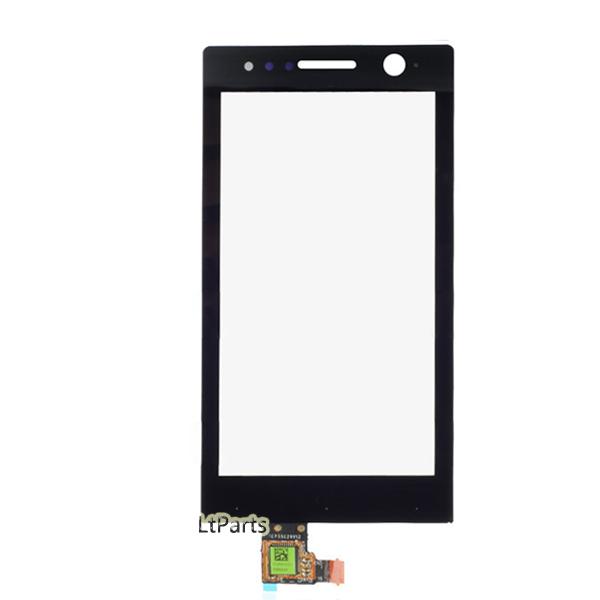 Черный переднее стекло панели для Sony Xperia U ST25i ST25 сенсорный экран планшета мобильного телефона аксессуарами сборки