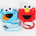 25 New style 1Pcs Sesame Street ELMO Plush pack Children cartoon Lanyard bag 20160413